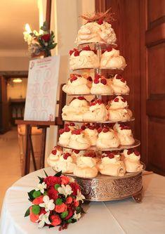 Meringue wedding cake tower