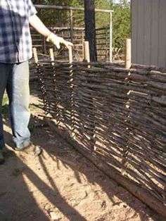 Pine Wattle Fencing Do It Yourself Project The Homestead