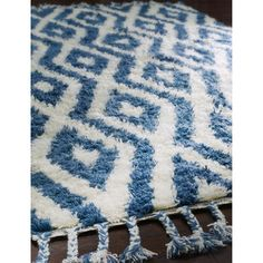 nuLOOM Hand-knotted Moroccan Diamond Trellis Blue Shag Rug (5' x 8') | Overstock.com Shopping - Great Deals on Nuloom 5x8 - 6x9 Rugs