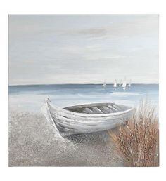 OIL WALL PAINTING CANVAS W_BOAT  680Χ2Χ80