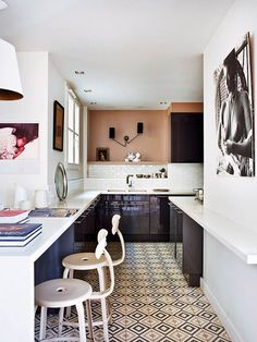 stylish kitchen in modern paris apartment. / sfgirlbybay