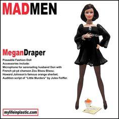Mad Men Megan Draper Poseable Fashion Doll by MyLifeInPlastic.com