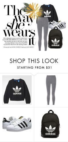 """""""sports ware"""" by thanyaphat on Polyvore featuring adidas, T By Alexander Wang, adidas Originals, women's clothing, women's fashion, women, female, woman, misses and juniors"""