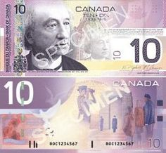 Canada 10 Dollars 2001 Front: Sir John A. MacDonald - Prime Minister of Canada in 1867-1873, 1878-1891; The Library of Parliament; Back: Remembrance and Peacekeeping; The first verse of John McCrae's poem, In Flanders Fields, and its French adaptation, Au champ d'honneur, by Jean Pariseau, are featured together with doves and a wreath of poppies, which symbolize peace and commemoration; Watermark: Sir John A. MacDonald; Date of Issue: 17 January 2001; Signatures: W.P. Jenkins; G.G. Thiessen. The Color Of Money, Canadian Coins, Flanders Field, Saving For Retirement, People Of The World, Prime Minister, Ephemera, Poppies, Poems