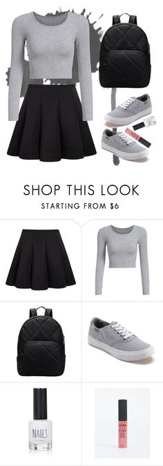 """Girl in her sneakers"" by fleuramour on Polyvore featuring Vans, Topshop, outfit, ootd, dailyoutfit and fashionset"