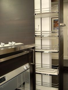Vertical Modular Pull-Out Cabinet --> http://www.hgtv.com/kitchens/dreamy-kitchen-storage-solutions/pictures/page-7.html?soc=pinterest
