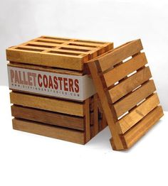 Big shipping pallets turned mini — this set of sweet wood coasters is made from actual shipping pallets. And just like the real thing, they're sure to keep beverages of all sorts high and dry.
