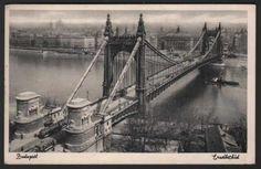 Elisabeth Bridge 1936. Capital Of Hungary, Brooklyn Bridge, Vintage Photos, The Past, Fashion History, Bridges, Travel, Times, Image