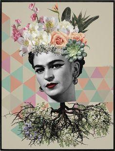 INSIDE FRIDA  por Ana Paula Hoppe - Urban Arts Decor Frida E Diego, Frida Art, Mermaid Wallpaper Backgrounds, Trendy Wallpaper, Arte Latina, Kahlo Paintings, Graffiti Wall Art, Vintage Quotes, Mexican Artists