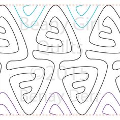 Willow Leaf Studio - TIKI TRIANGLE  by Beany Girl Quilts