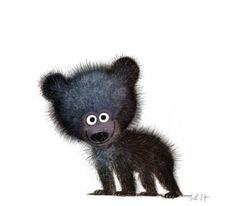 Little black bear~ Wiebke Rauers Illustration