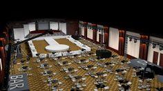 Salón de fiesta vista aérea 1 #C4D #3D #Design #diseño