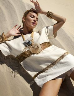 """Candice Swanepoel in """"Queen Of The Desert"""" Photographed By J.R. Duran & Styled By Daniel Ueda For Vogue Brazil, October 2011"""