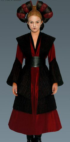 Here Sabé is playing her role as the decoy queen again, for the meeting with the Gungans.   Satisfy Your Star Wars Addiction By Drooling Over Queen Amidala's Costumes