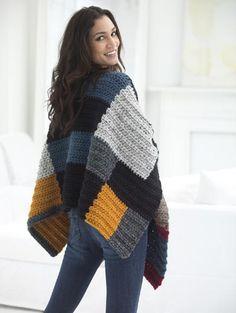 Free Crochet Pattern L50031 Petrona Poncho : Lion Brand Yarn Company