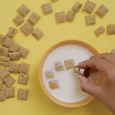 Pull a couple of cereal boxes from the shelf and test their iron content with this simple experiment. It's fun to see your breakfast whiz across the surface of milk using a magnet!