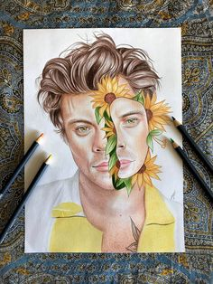One Direction Fan Art, One Direction Drawings, Sketch Painting, Drawing Sketches, Art Drawings, Shawn Mendes, Harry Styles Album Cover, Pencil Drawing Inspiration, Harry Styles Drawing