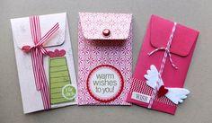 schnelle Umschläge (Stanze) aus Resten von Scrapbookpapier, Uafklebern, Embellishment usw. --> Mit Umschlag-Schablone