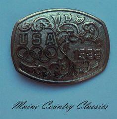 Vintage 1988 USA Olympics Belt Buckle Souvenir by B K | eBay