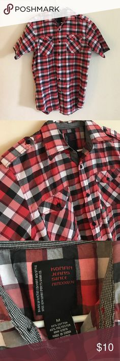 Plaid Button Up Shirt Only used a handful of times. Koman Jeans Shirts Casual Button Down Shirts