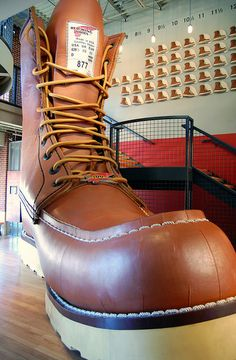 World's Largest Boot at Red Wing Shoes. Red Wing, Minnesota.