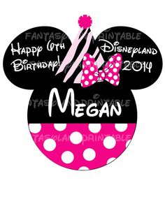 Zebra Birthday Minnie Mouse DIY Printable Image for Iron on Transfers Disney Mouse MGM Hollywood Celebrate Age Celebration Disneyland