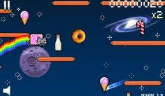 Vous connaissez Nyan Cat, le célèbre chat volant laissant derrière lui une trainée d'arc-en-ciel ? Voilà un jeu qui lui est dédié, Nyan Cat Lost in Space !