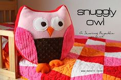 Free owl pillow pattern, very nice step by step instructions with loads of photos.