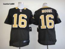 New Orleans Saints #16 Lance Moore Elite Black Jersey