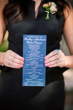 Navy wedding programs