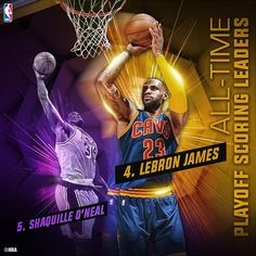 LeBron James moves up to 4th place on the #NBAPlayoffs all-time scoring list!