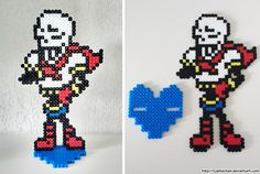 Papyrus with stand - Undertale perler beads by TyphieChan
