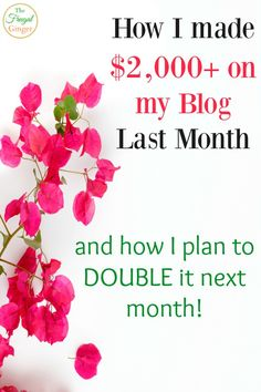 She made over $2,000 on her blog last month and breaks it down so you can do the same. I love learning from fellow bloggers!