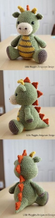 This super cute Amigurumi Baby Dragon Crochet Pattern is perfect for your next project and it's free. Check out the video tutorial too.