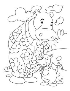 Hippo coloring pages for preschoolers ~ Paper bag Hippo Puppet | Preschool crafts & Storytime ...
