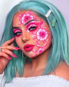 42 Halloween Makeup Ideas For Women 42 Halloween Makeup Ideas For Women Makeup Eye Looks, Makeup For Green Eyes, Crazy Makeup, Blue Eye Makeup, Cute Makeup, Face Paint Makeup, Eye Makeup Art, Fairy Makeup, Mermaid Makeup