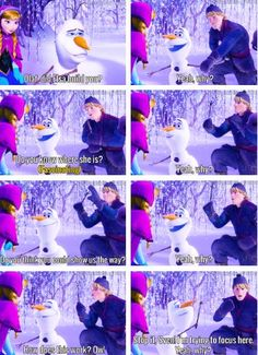"""Olaf meets Anna & Kristoff - """"Yeah, why?"""""""