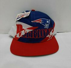 Vintage 1990's New England Patriots NFL Logo 7 Script Spell Out Snapback Hat NWT #NFL #NewEnglandPatriots