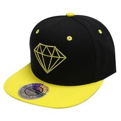 City Hunter Cf918t Diamond Snapback Cap - 5 Colors (Black gold) Caps For 4ed4322c467d