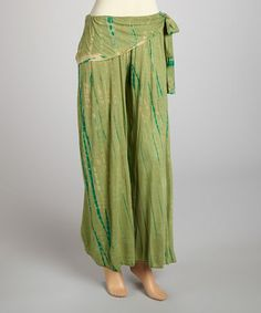 Take a look at this Green Tie-Dye Lounge Pants by Rising International on #zulily today! $25 !!