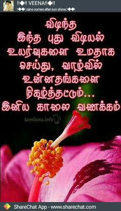 Good Morning Tamil Kavithai Greetings Images For Whatsapp Share 5