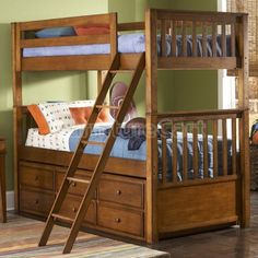 Safari Bunk Bed with Trundle