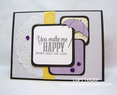 Card by Lori Tecler using Rain or Shine from Verve.  #vervestamps