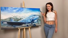 Large painting in oil