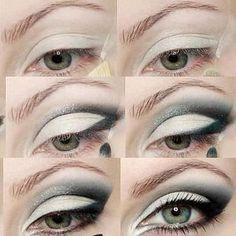 b56c45bc8c Tutorial para maquillar los ojos con sombras grises, (con truco)- Oriflame -