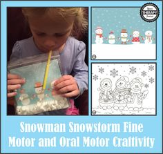 Snowman Snowstorm Fine Motor and oral Motor Activity from Your Therapy Source