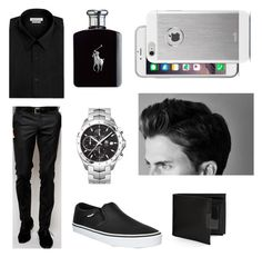 """Dylan's Date Night"" by isasaurus on Polyvore featuring Van Heusen, Noose & Monkey, TAG Heuer, Perry Ellis, Vans, Moshi, Ralph Lauren, men's fashion and menswear"