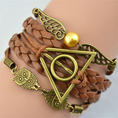 The Deathly Hallows symbol consists of a circle, triangle and line. The line…