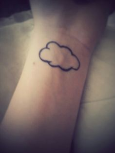 """This is a replica of Jc Caylen's cloud tattoo on my left wrist. (Its in sharpie)  """"Symbolizing positivity, dreaming. Go for what you want and not for what people want you to go for"""" -Jc Caylen"""
