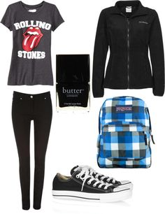 """outfit for school tomorrow"" by jenniferheffintrayer ❤ liked on Polyvore"
